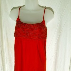 Guess by Marciano Ruched Orange Top